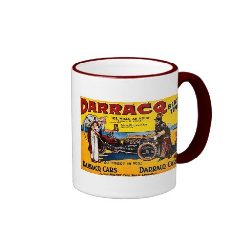 Darracq - Vintage Auto Advertisement Ringer Coffee Mug