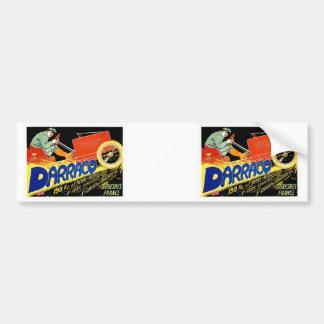 Darracq ~ Vintage French Motor Car Ad Bumper Sticker