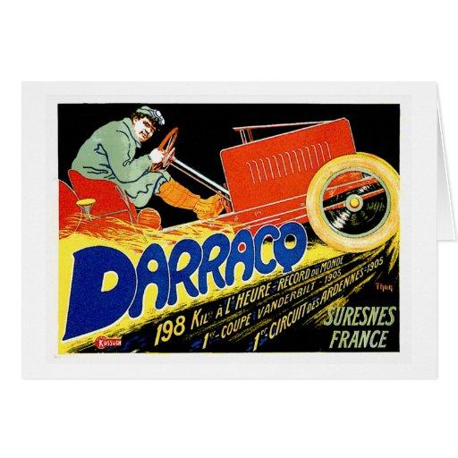 Darracq ~ Vintage French Motor Car Ad Greeting Card