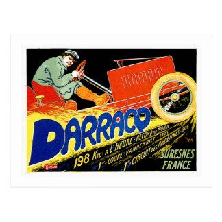 Darracq ~ Vintage French Motor Car Ad Postcard