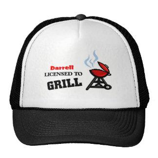 Darrell autorizó para asar a la parrilla gorras de camionero