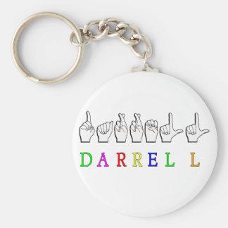 DARRELL NAME SIGN ASL FINGERSPELLED KEYCHAINS