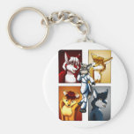 Darrik - Fox of Many Colors Basic Round Button Keychain