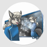 Darrik: Glimmering Discovery Classic Round Sticker