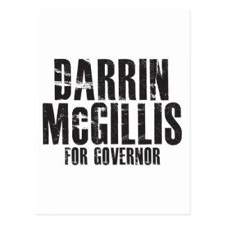 Darrin McGillis para el gobernador 2010 Tarjetas Postales