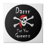 Darrr Eat Yer Greens Tiles
