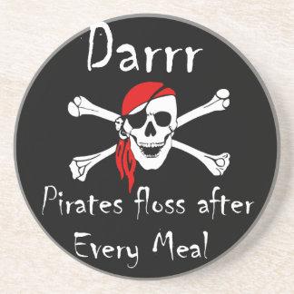 Darrr piratea la seda después de cada comida posavasos manualidades