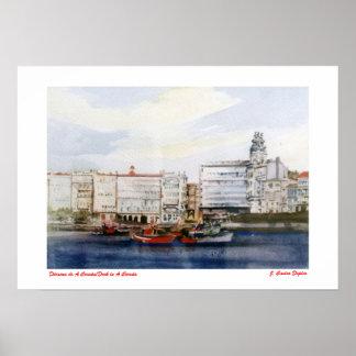 Dársena de A Coruña/Dock in A Coruña Póster