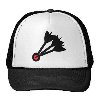 dart arrows bullseye trucker hat