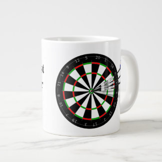 Dart Board And Darts Britain's Best Darts Player Large Coffee Mug