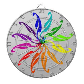 Dart Board - Color Wheel leaves