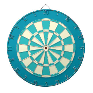 Dart Board: Cream, Turquoise, And Teal Dartboard