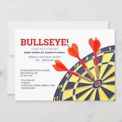 Dart Board Invitation