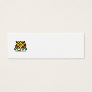 Dart Board Iowa State Map Corn Retro Mini Business Card