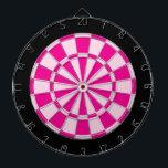 "Dart Board: Light Pink, Dark Pink, And Black Dartboard With Darts<br><div class=""desc"">Light Pink,  Dark Pink,  And Black Colored Dart Board Game Including 6 Brass Darts</div>"