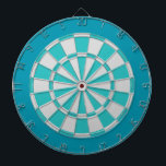 "Dart Board: Light Silver, Turquoise, And Teal Dart Board<br><div class=""desc"">Light Silver,  Turquoise,  And Teal Colored Dart Board Game Including 6 Brass Darts</div>"