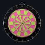 "Dart Board: Lime Green, Pink, And Black Dartboard<br><div class=""desc"">Lime Green,  Pink,  And Black Colored Dart Board Game Including 6 Brass Darts</div>"