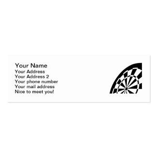 Dart board mini business card