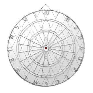 Dart-Board-Modern-Diamond-White(c)Swiss White Dart Boards