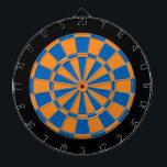 "Dart Board: Orange, Blue, And Black Dartboard With Darts<br><div class=""desc"">Orange,  Blue,  And Black Colored Dart Board Game Including 6 Brass Darts</div>"