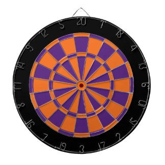 Dart Board: Orange, Purple, And Black Dartboard