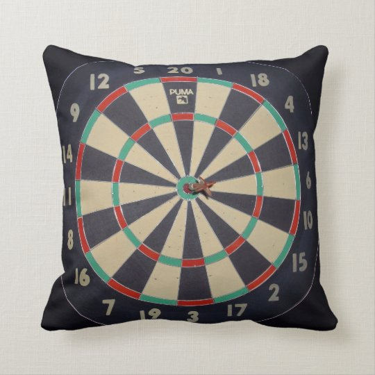 Dart_Board_Pillow, Throw Pillow