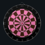 "Dart Board: Pink, Brown, And Black Dartboard With Darts<br><div class=""desc"">Pink,  Brown,  And Black Colored Dart Board Game Including 6 Brass Darts</div>"