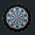 "Dart Board: Pink, Green, And Black Dart Board<br><div class=""desc"">Pink,  Green,  And Black Colored Dart Board Game Including 6 Brass Darts</div>"