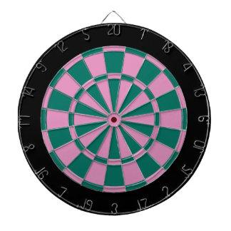 Dart Board: Pink, Green, And Black Dartboards