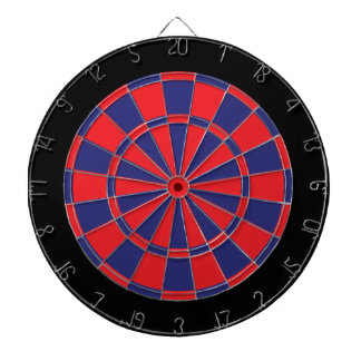 Dart Board: Red, Navy, And Black Dartboard