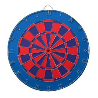Dart Board: Red, Navy, And Blue Dartboard