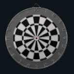 "Dart Board: Silver Gray, Black, And Charcoal Dartboard With Darts<br><div class=""desc"">Silver Gray,  Black,  And Charcoal Colored Dart Board Game Including 6 Brass Darts</div>"