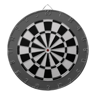 Dart Board: Silver Gray, Black, And Charcoal Dartboard With Darts