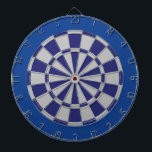 "Dart Board: Silver Gray, Navy, And Blue Dartboard With Darts<br><div class=""desc"">Silver Gray,  Navy,  And Blue Colored Dart Board Game Including 6 Brass Darts</div>"