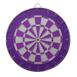 Dart Board: Silver Gray, Purple, And Dark Purple Dartboards