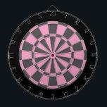 "Dart Board: Soft Pink, Grey, And Black Dart Board<br><div class=""desc"">Soft Pink,  Grey,  And Black Colored Dart Board Game Including 6 Brass Darts</div>"