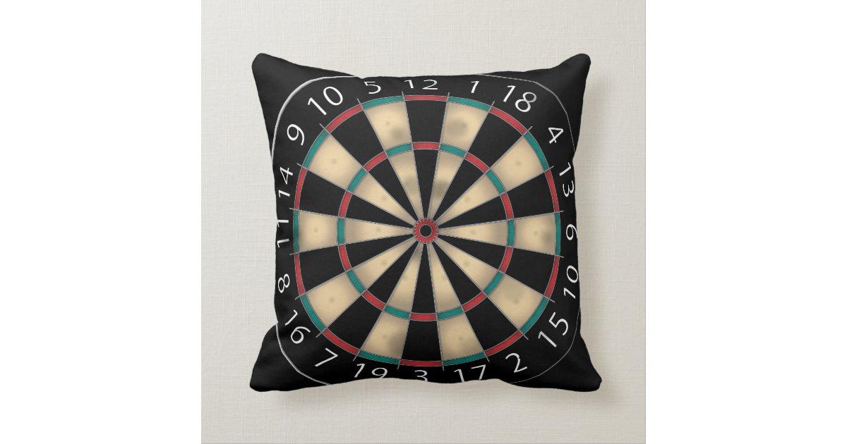 Dart Board Throw Pillow Zazzle