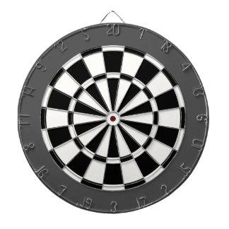 Dart Board: White, Black, And Charcoal Gray Dart Boards