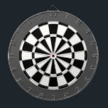 "Dart Board: White, Black, And Charcoal Gray Dartboard<br><div class=""desc"">White,  Black,  And Charcoal Gray Colored Dart Board Game Including 6 Brass Darts</div>"