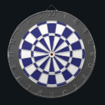 "Dart Board: White, Navy Blue, And Charcoal Gray Dart Board<br><div class=""desc"">White,  Navy Blue,  And Charcoal Gray Colored Dart Board Game Including 6 Brass Darts</div>"