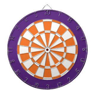 Dart Board: White, Orange, And Purple Dart Board