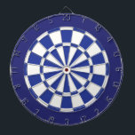 "Dart Board: White, Royal, And Navy Blue Dart Board<br><div class=""desc"">White,  Royal,  And Navy Blue Colored Dart Board Game Including 6 Brass Darts</div>"