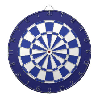 Dart Board: White, Royal, And Navy Blue Dart Board