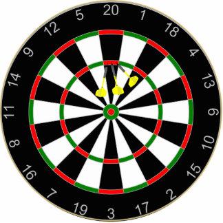 Dart Board with 3X triple 20 dart group. Cutout