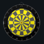 "Dart Board: Yellow, Charcoal Gray, And Black Dartboard With Darts<br><div class=""desc"">Yellow,  Charcoal Gray,  And Black Colored Dart Board Game Including 6 Brass Darts</div>"