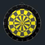 "Dart Board: Yellow, Charcoal Gray, And Black Dartboard With Darts<br><div class=""desc"">Yellow,  Charcoal Gray,  And Black Colored Dart Board Game Including 6 Brass Darts</div>"