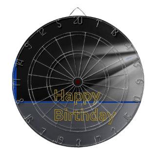 DART Chakra 101- Happy Birthday in Black n Gold Dartboards
