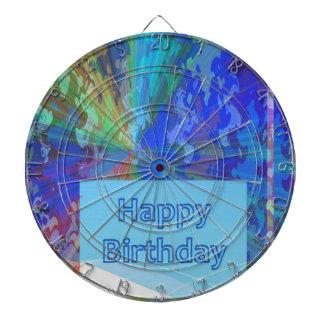 DART Chakra 101- Happy Birthday in Blue Dart Board