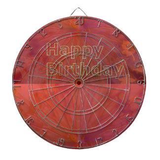 DART Chakra 101- Happy Birthday in Gold Engraved Dartboard