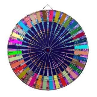 DART Chakra 107 Basket Weave Rainbow Beauty Dartboard With Darts